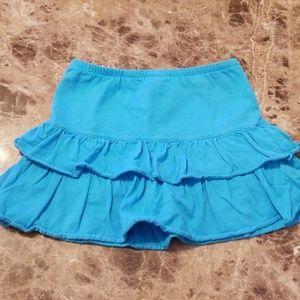 Lands End Girls Blue Ruffled Skort, Size 5